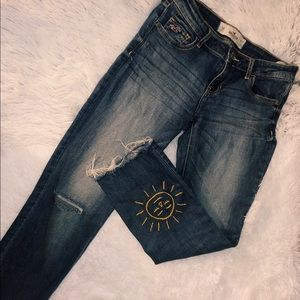 Faded Distressed Hollister Jeans